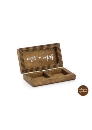 Drevená krabička na prstienky