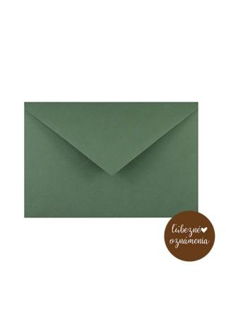 Farebná obálka C6 - 120 g - zelená - sekvoja