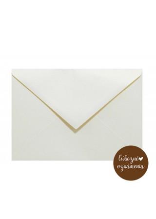 Perleťová obálka C6 - 110 g - krémovozlatá