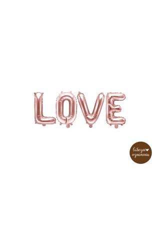 "Balón ""Love"" - ružové zlato - 140x35 cm"
