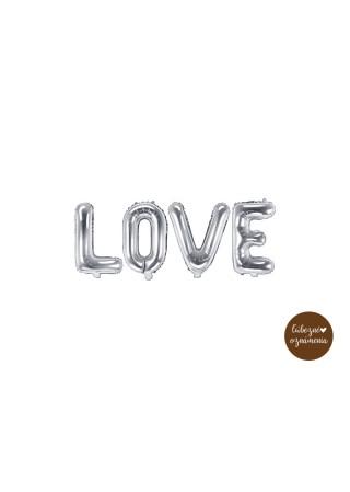 "Balón ""Love"" - strieborný - 140x35 cm"