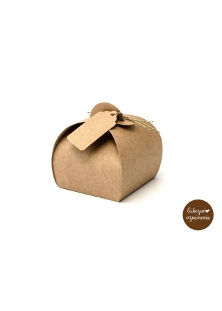 Krabičky - kraft - bal. 10 ks - 6x6x5,5 cm