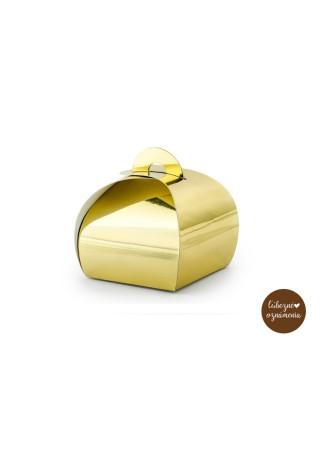 Krabičky - zlaté - bal. 10 ks - 6x6x5,5 cm