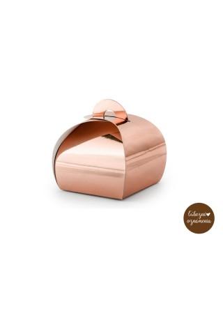 Krabičky - ružové zlato - bal. 10 ks - 6x6x5,5 cm