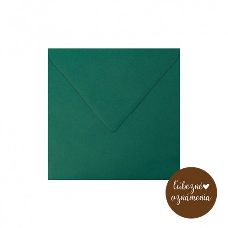 Štvorcová obálka - 90 g - smaragdová