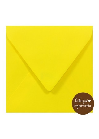 Štvorcová obálka - 115 g - žltá