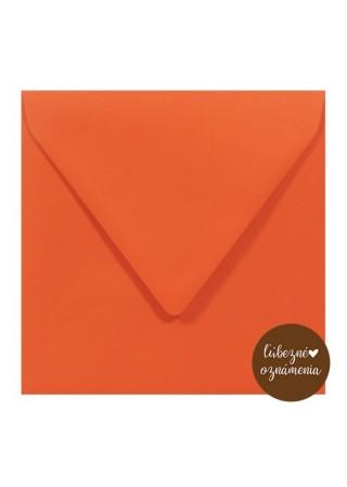 Štvorcová obálka - 115 g - oranžová