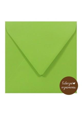 Štvorcová obálka - 115 g - zelená