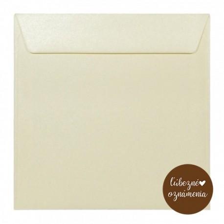 Perleťová obálka - 120 g - krémová
