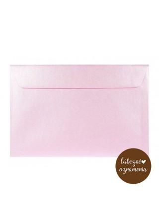Perleťová obálka C6 - 120 g - ružová