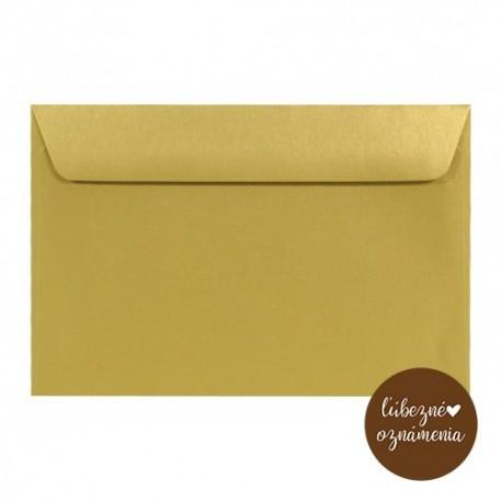 Perleťová obálka C6 - 120 g - zlatá
