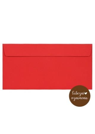 Farebná obálka DL - 120 g - červená