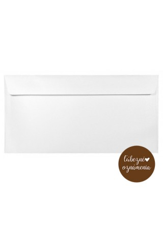 Perleťová obálka DL - 120 g - biela