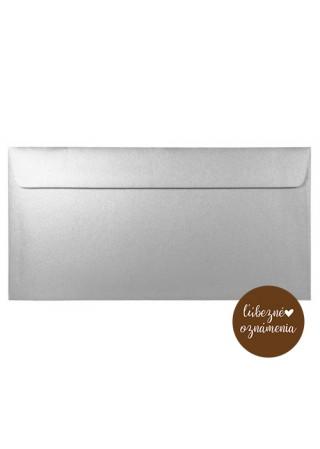Perleťová obálka DL - 120 g - sivá