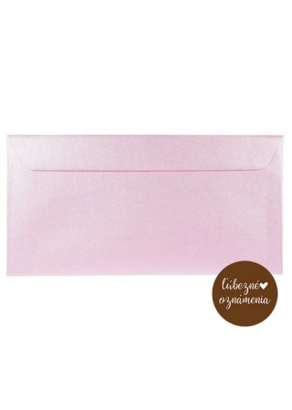 Perleťová obálka DL - 120 g - ružová