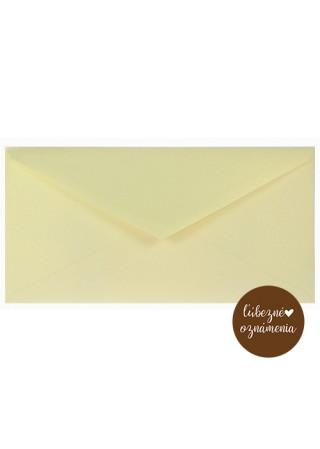 Perleťová obálka DL - 110 g - krémová