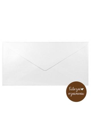 Perleťová obálka DL - 110 g - biela