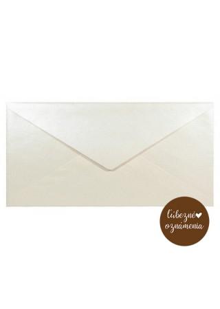 Perleťová obálka DL - 125 g - krémová