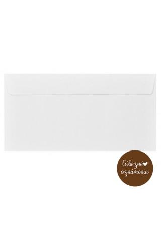 Farebná obálka DL - 120 g - biela