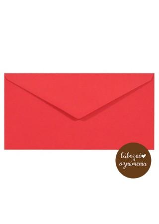 Farebná obálka DL - 115 g - červená