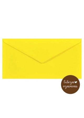 Farebná obálka DL - 115 g -  žltá