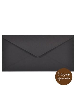 Farebná obálka DL - 115 g - čierna
