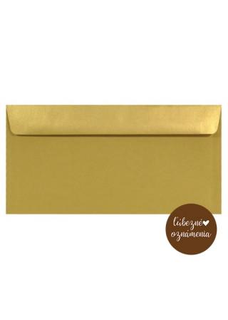 Perleťová obálka DL - 110 g - zlatá