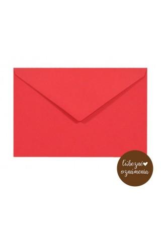 Farebná obálka C6 - 115 g - červená