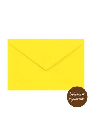 Farebná obálka C6 - 115 g - žltá