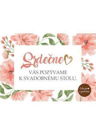 Pozvánka k stolu Lososové kvety
