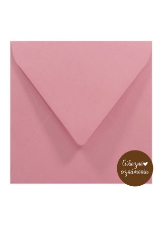 Štvorcová obálka - 140 g - ružová