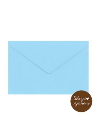 Pastelová obálka C6 - modrá