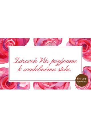 Pozvánka k stolu Ruže
