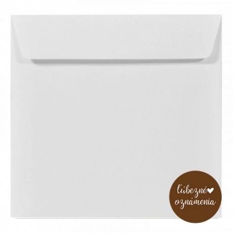 Štvorcová obálka - 100 g - biela