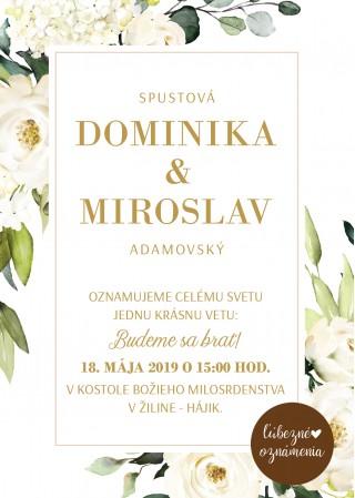 Oznámenie Biele ruže 02