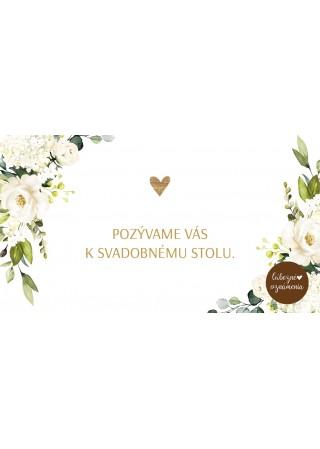 Pozvánka k stolu Biele ruže 01