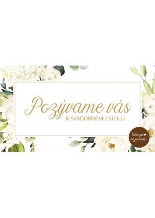 Pozvánka k stolu Biele ruže 02