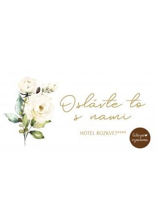Pozvánka k stolu Biele ruže 04