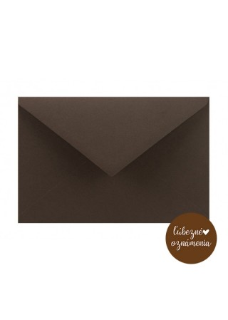 Farebná obálka C6 - 115 g - kakao