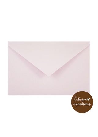 Farebná obálka C6 - 120 g - pastelová ružová