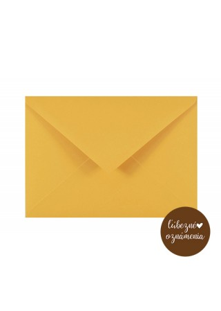 Farebná obálka C6 - 120 g - žltá