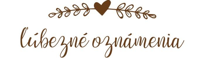 Ľúbezné Oznámenia - svadobné oznámenie z lásky